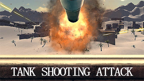 Tank shooting attack poster