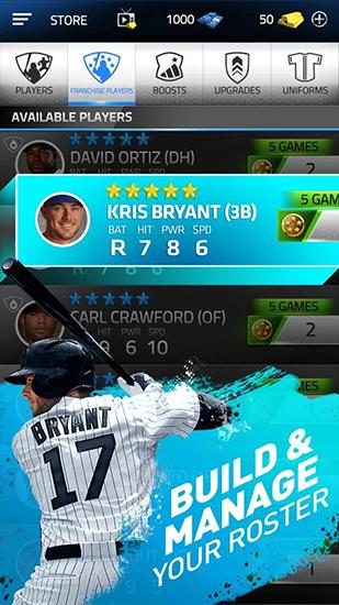 Screenshots of the Tap sports: Baseball 2016 for Android tablet, phone.
