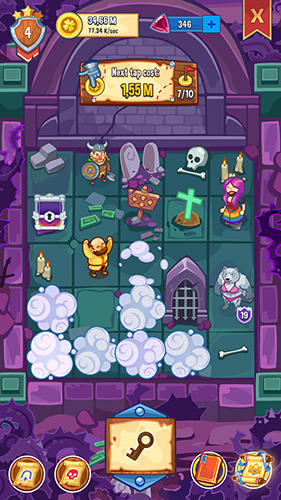 Screenshots do Tap! Tap! Kingdom: Idle clicker fantasy RPG - Perigoso para tablet e celular Android.