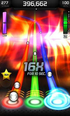 Screenshots of the Tap tap revenge 4 for Android tablet, phone.
