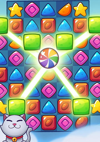 Screenshots von Tasty candy: Match 3 puzzle games für Android-Tablet, Smartphone.