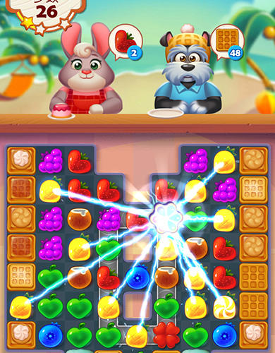 Screenshots von Tasty treats blast: A match 3 puzzle games für Android-Tablet, Smartphone.