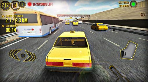 Screenshots von Taxi car simulator 3D 2014 für Android-Tablet, Smartphone.