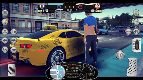 Screenshots do Taxi: Revolution sim 2019. Amazing taxi sim 2017 v2 - Perigoso para tablet e celular Android.