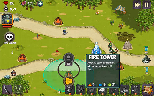 Screenshots von TD game fantasy tower defense für Android-Tablet, Smartphone.