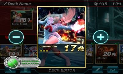 Jogue Tekken Card Tournament para Android. Jogo Tekken Card Tournament para download gratuito.