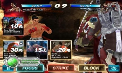 Screenshots do Tekken Card Tournament - Perigoso para tablet e celular Android.