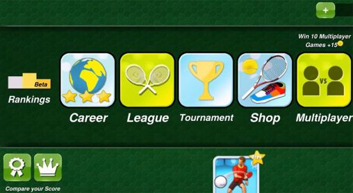 Screenshots von Tennis champion 3D für Android-Tablet, Smartphone.