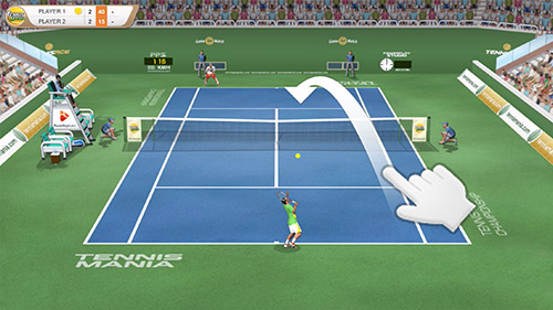 Tennis mania mobile screenshot 2