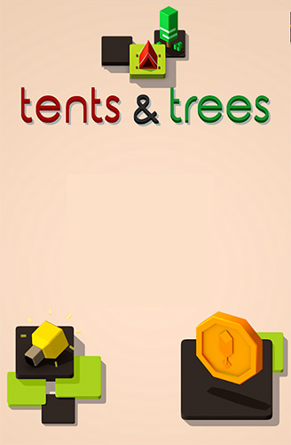 Tents and trees puzzles poster