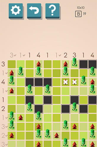 Tents and trees puzzles screenshot 2