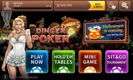 Kostenloses Android-Game Texas Holdem: Dinger Poker. Vollversion der Android-apk-App Hirschjäger: Die Texas holdem: Dinger poker für Tablets und Telefone.