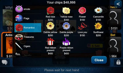 Screenshots von Texas Hold'em Poker für Android-Tablet, Smartphone.