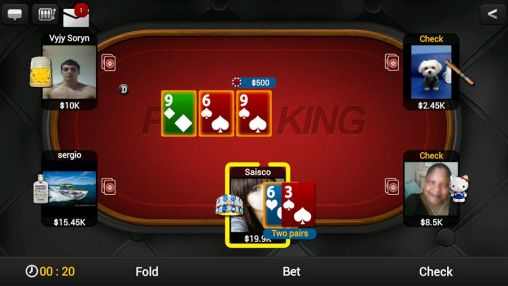 Геймплей Texas holdem poker: Poker king для Android телефону.