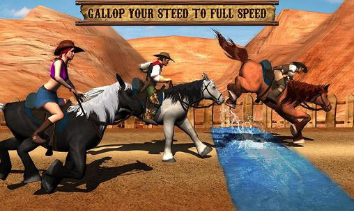 Jogue Texas: Wild horse race 3D para Android. Jogo Texas: Wild horse race 3D para download gratuito.