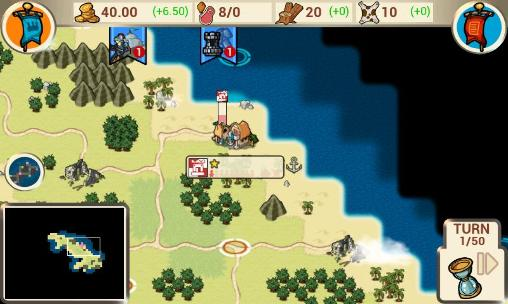 The conquest: Colonization für Android spielen. Spiel The Conquest: Colonization kostenloser Download.
