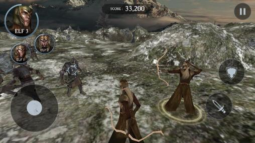 Screenshots von The hobbit: The battle of the five armies. Fight for Middle-earth für Android-Tablet, Smartphone.