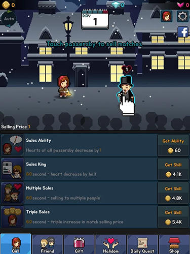 The little match girl: Happy clicker screenshot 1