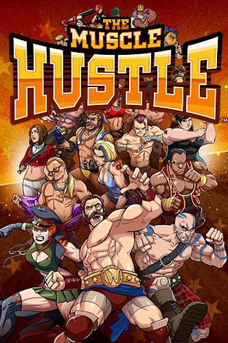 The muscle hustle: Slingshot wrestling poster