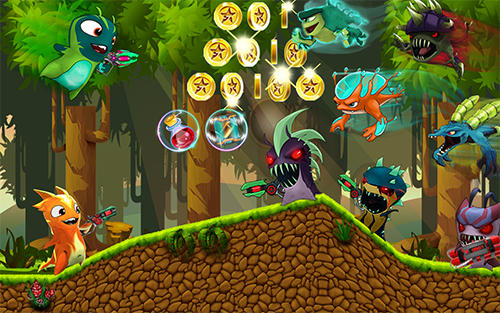 Screenshots von The slug of fighters. Slugs jetpack fight world für Android-Tablet, Smartphone.