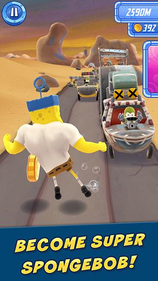 Скачати гру The Spongebob movie game: Sponge on the run на Андроїд телефон і планшет.