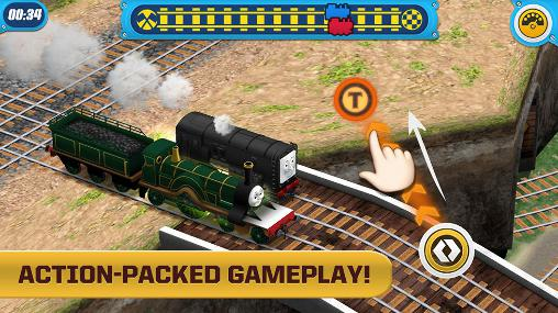 Kostenloses Android-Game Thomas und Freunde: Überholjagd. Vollversion der Android-apk-App Hirschjäger: Die Thomas and friends: Race on! für Tablets und Telefone.
