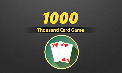 Thousand card game poster