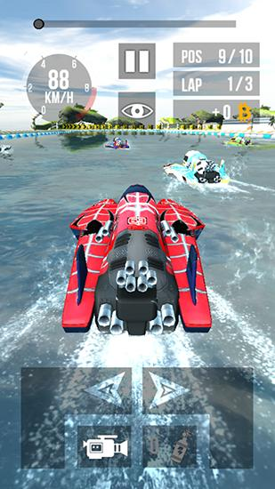 Thumb boat racing HD screenshot 1