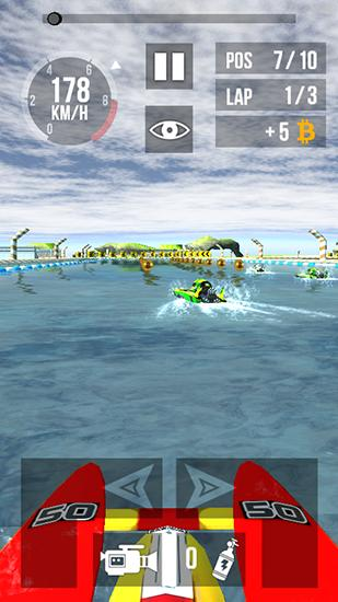 Thumb boat racing HD screenshot 2