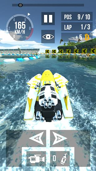 Thumb boat racing HD screenshot 3