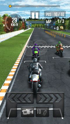 Thumb motorbike racing screenshot 1