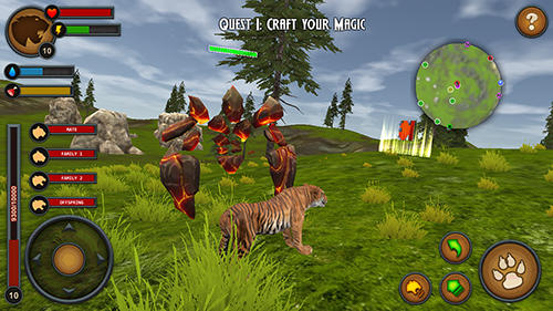 Screenshots von Tigers of the forest für Android-Tablet, Smartphone.