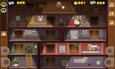 Screenshots of the Tiny Robber Bob for Android tablet, phone.