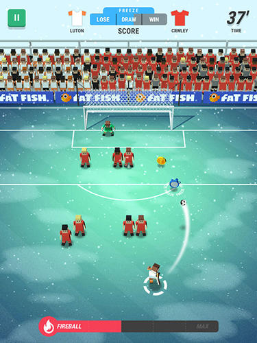 Kostenloses Android-Game Winziger Stürmer: Weltfußball. Vollversion der Android-apk-App Hirschjäger: Die Tiny striker: World football für Tablets und Telefone.