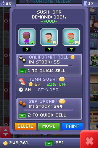 Screenshots von Tiny tower für Android-Tablet, Smartphone.