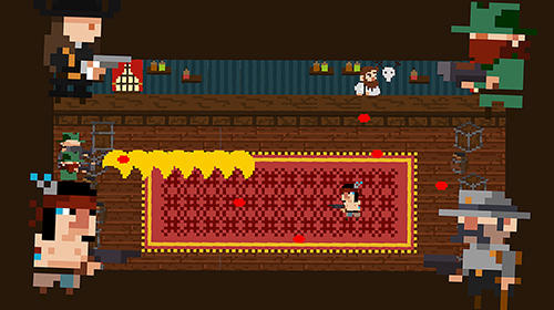 Tiny Wild West: Endless 8-bit pixel bullet hell screenshot 1