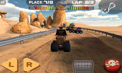 Screenshots of the Tires of Fury Monster Truck Racing for Android tablet, phone.