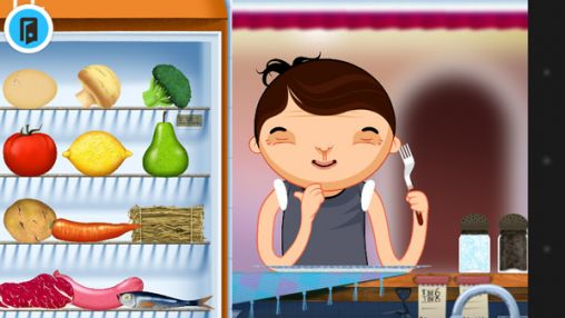 Screenshots of the Toca: Kitchen for Android tablet, phone.