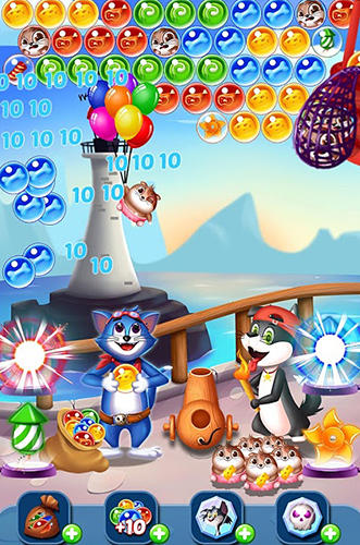 Tomcat pop: Bubble shooter für Android spielen. Spiel Tomcat Pop: Bubble Shooter kostenloser Download.