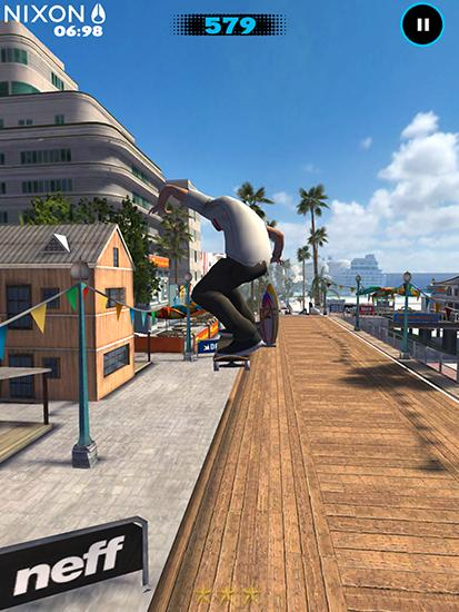 Capturas de pantalla de Tony Hawk's shred session para tabletas y teléfonos Android.