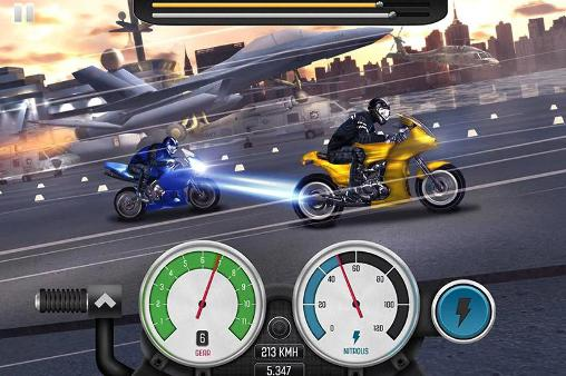 Kostenloses Android-Game Top Bike: Motorradrennen. Vollversion der Android-apk-App Hirschjäger: Die Top bike: Racing and moto drag für Tablets und Telefone.
