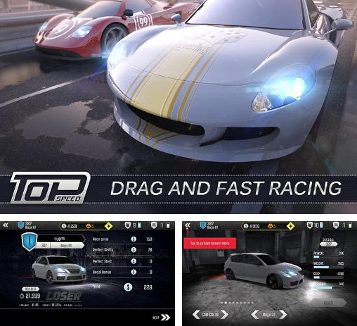 En plus du jeu CSR Classiques pour téléphones et tablettes Android, vous pouvez aussi télécharger gratuitement Vitesse maximale: Expérience du drag racing rapide, Top speed: Drag and fast racing experience.