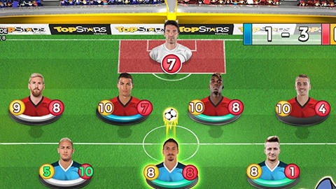 Screenshots von Top stars football für Android-Tablet, Smartphone.