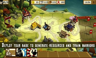 Screenshots of the Total War Battles: Shogun for Android tablet, phone.