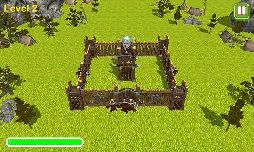 Screenshots of the Tower defence: Castle sieges 3D for Android tablet, phone.