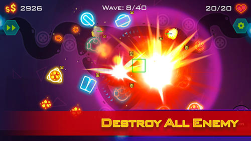 Tower defense: Geometry war screenshot 3