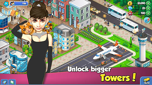 Tower sim: Celebrities city. Trump and Hillary screenshot 2