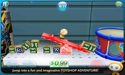 Screenshots of the Toyshop Adventures 3D for Android tablet, phone.