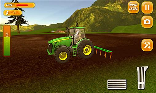 Screenshots von Tractor farming simulator 2017 für Android-Tablet, Smartphone.