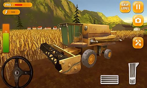 Screenshots do Tractor farming simulator 2017 - Perigoso para tablet e celular Android.